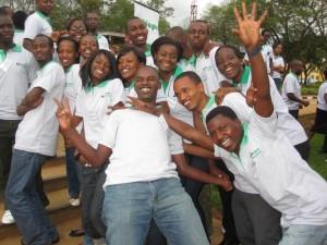 NetHope Academy Rwanda Students Enjoying Time Together