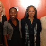 Lynann Bradbury (NetHope), Emmanuella Stimphat (WTC Protegee), Radha Basu (Anudip Foundation) & Rane Johnson (Microsoft) help launch NetHope's Women's TechConnect Program at a Microsoft Womn in IT event.